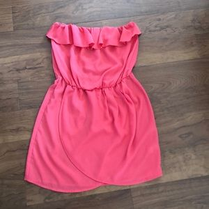 GAP Factory Coral Strapless Dress